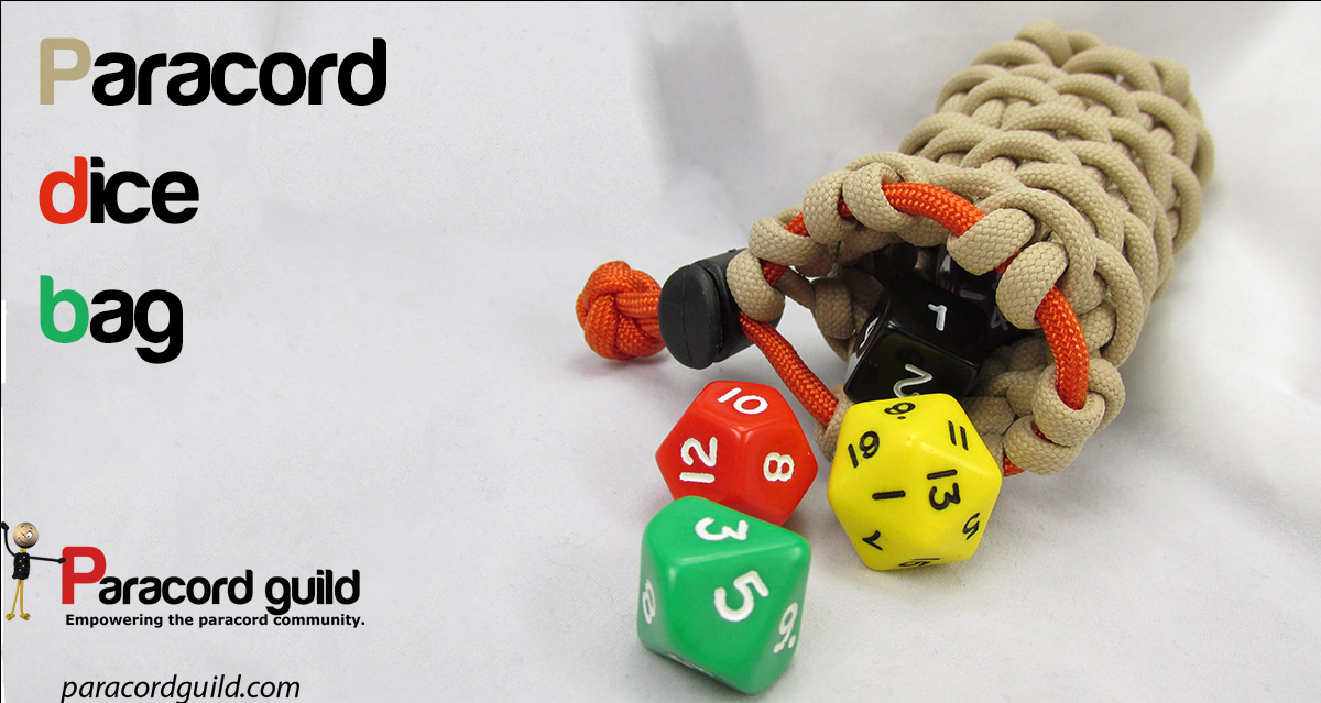 Paracord dice bag paracord guild for How to make a paracord bag