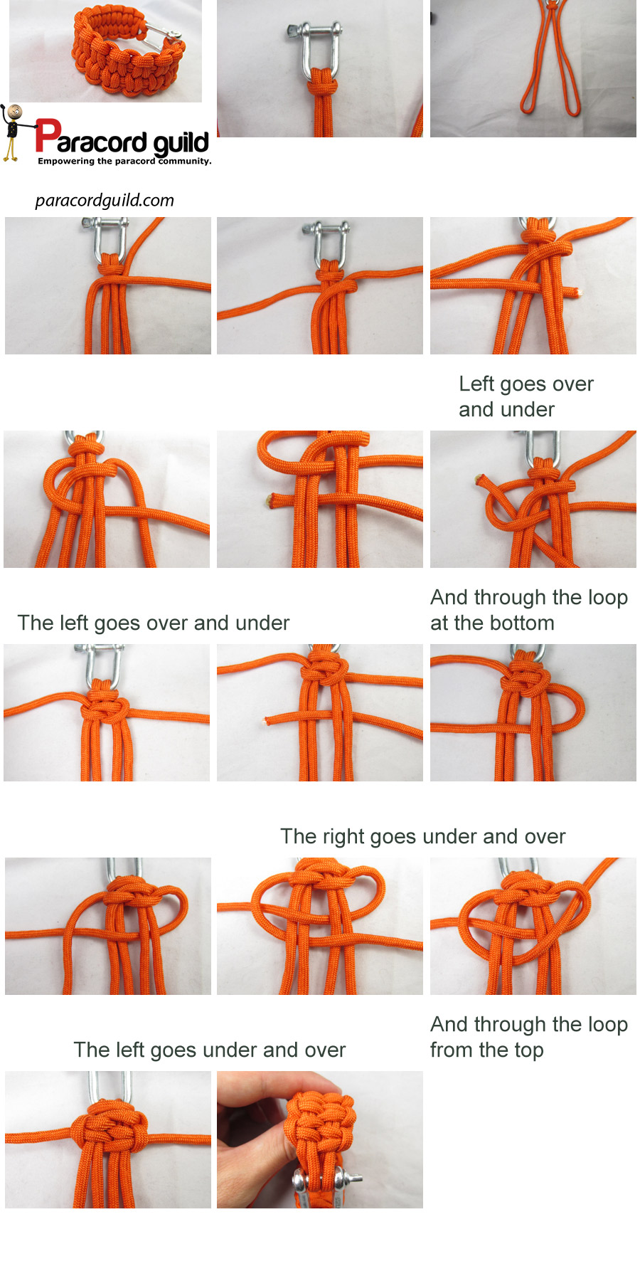 Paracord bracelet tutorial with buckle